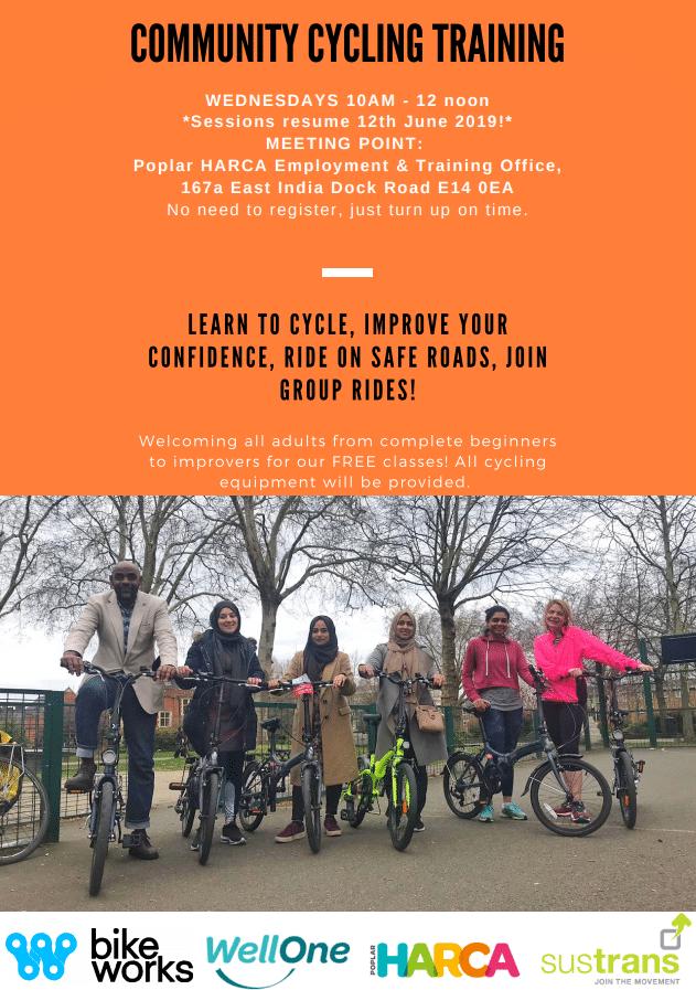 Poplar HARCA Community Cycling Training | Well One